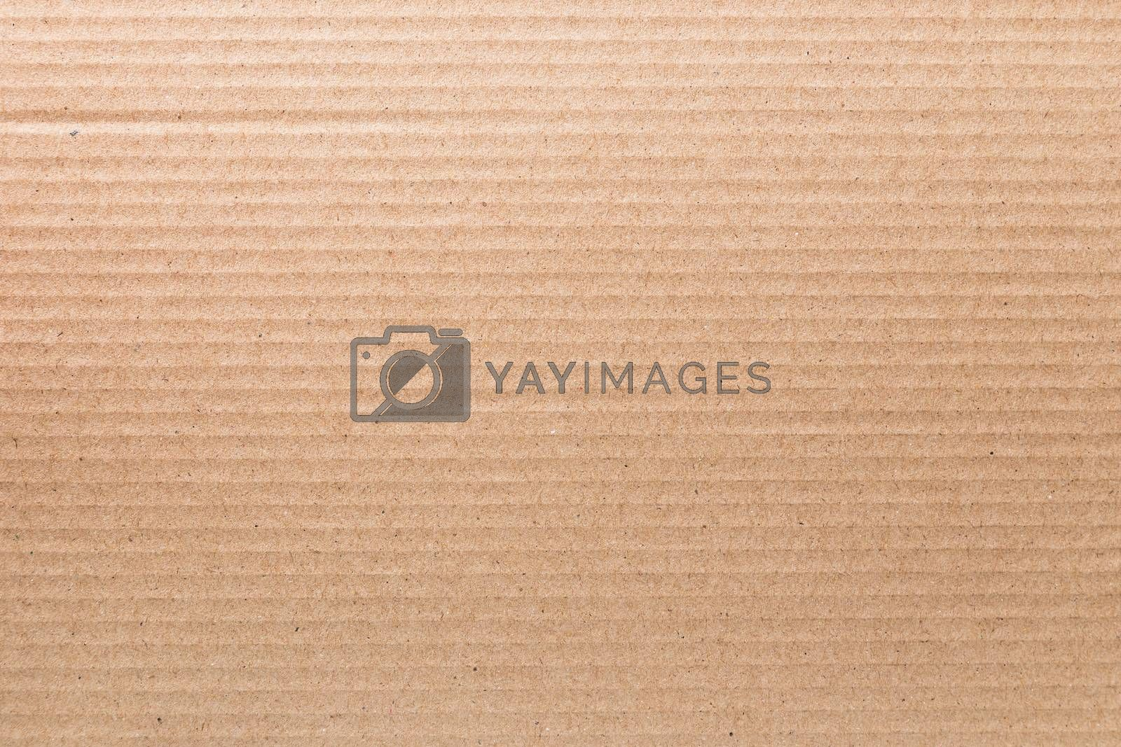 Texture of cardboard with brown.
