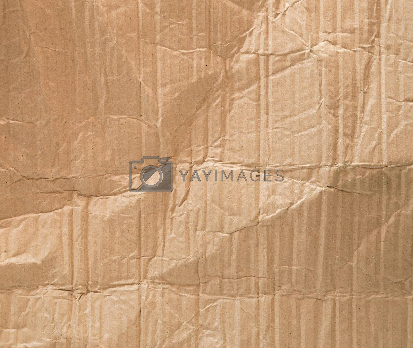 Texture of crumpled brown paper.