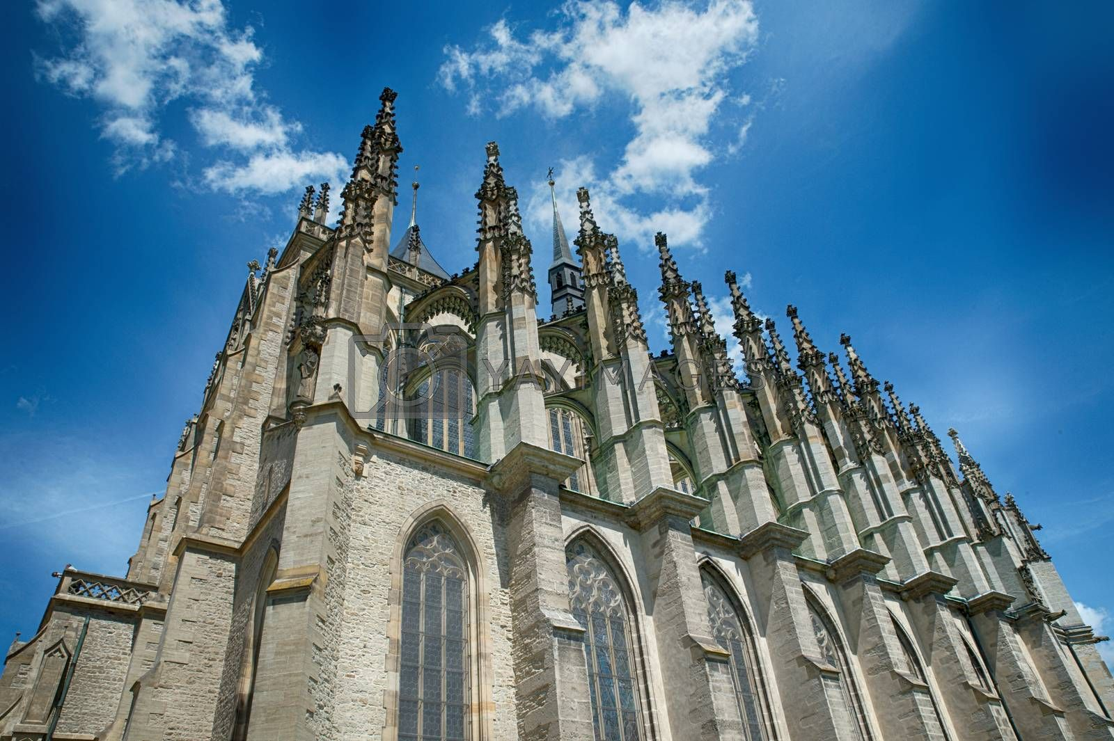 Cathedral in Kutna Hora - protected by UNESCO in Czech republic