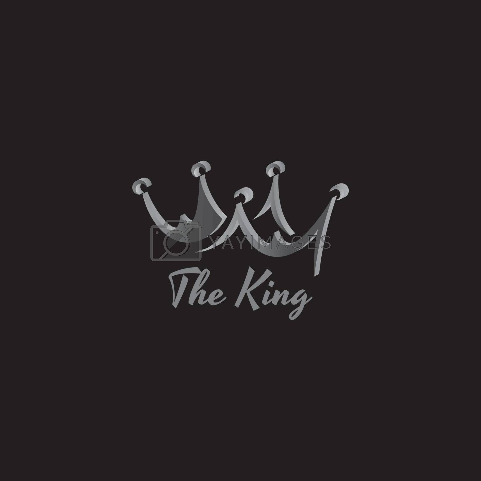 king crown logo template vector art illustration