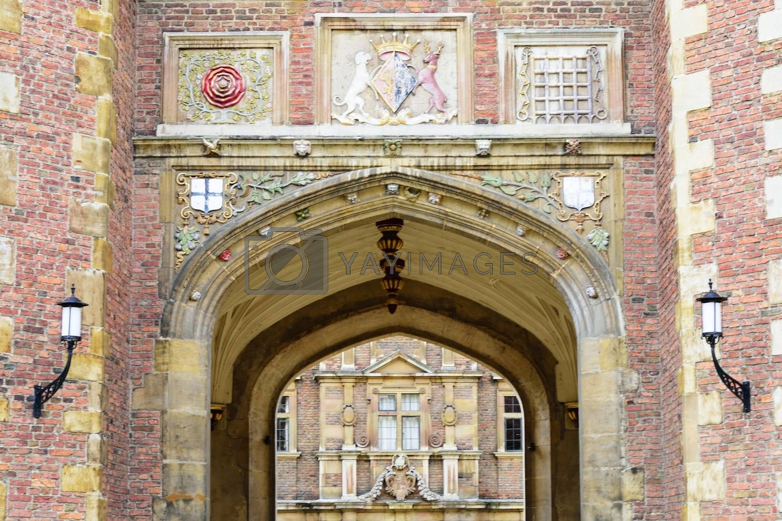 Archway through to Cambridge College