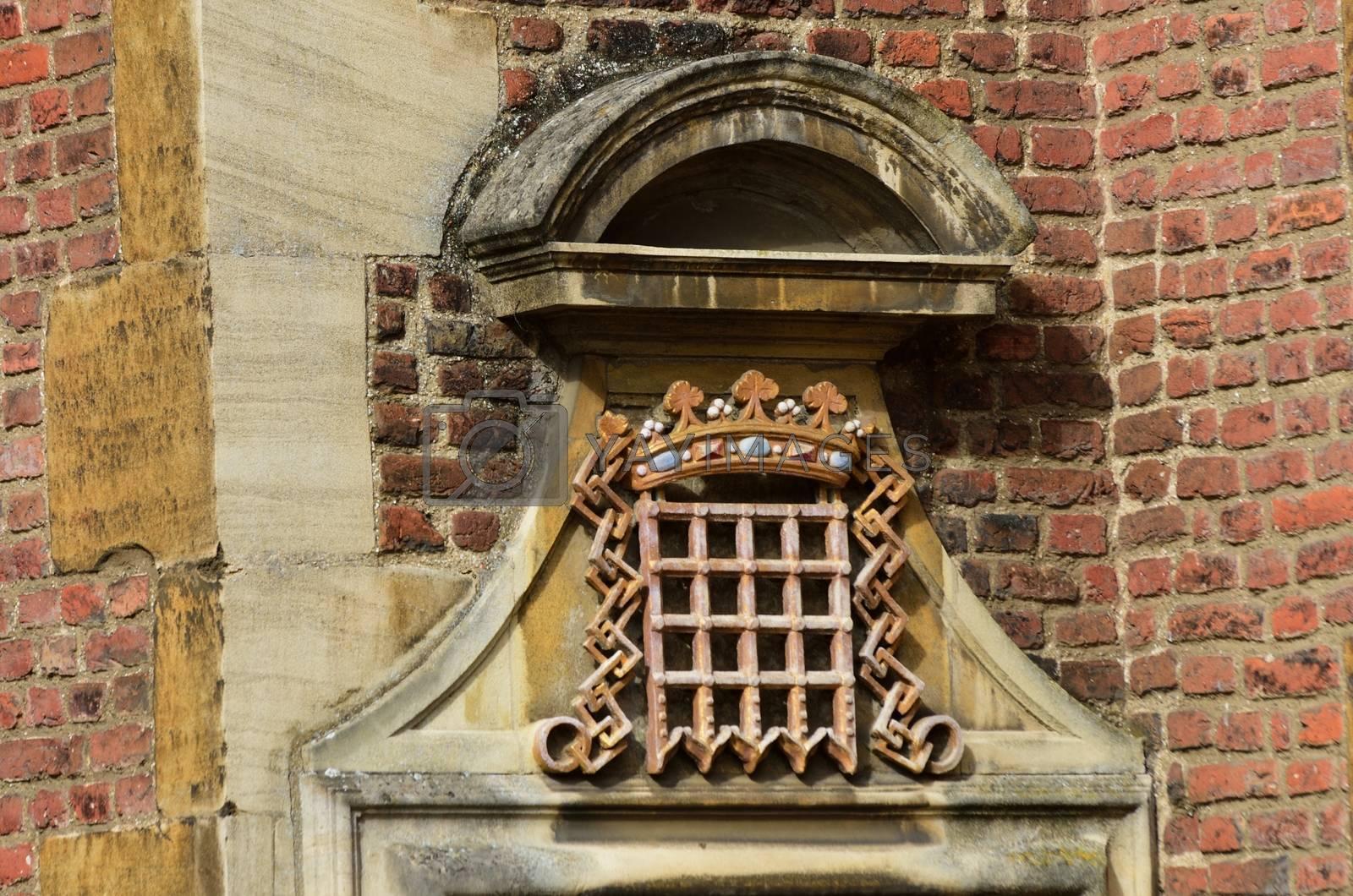 Portcullis symbol on Brick Wall