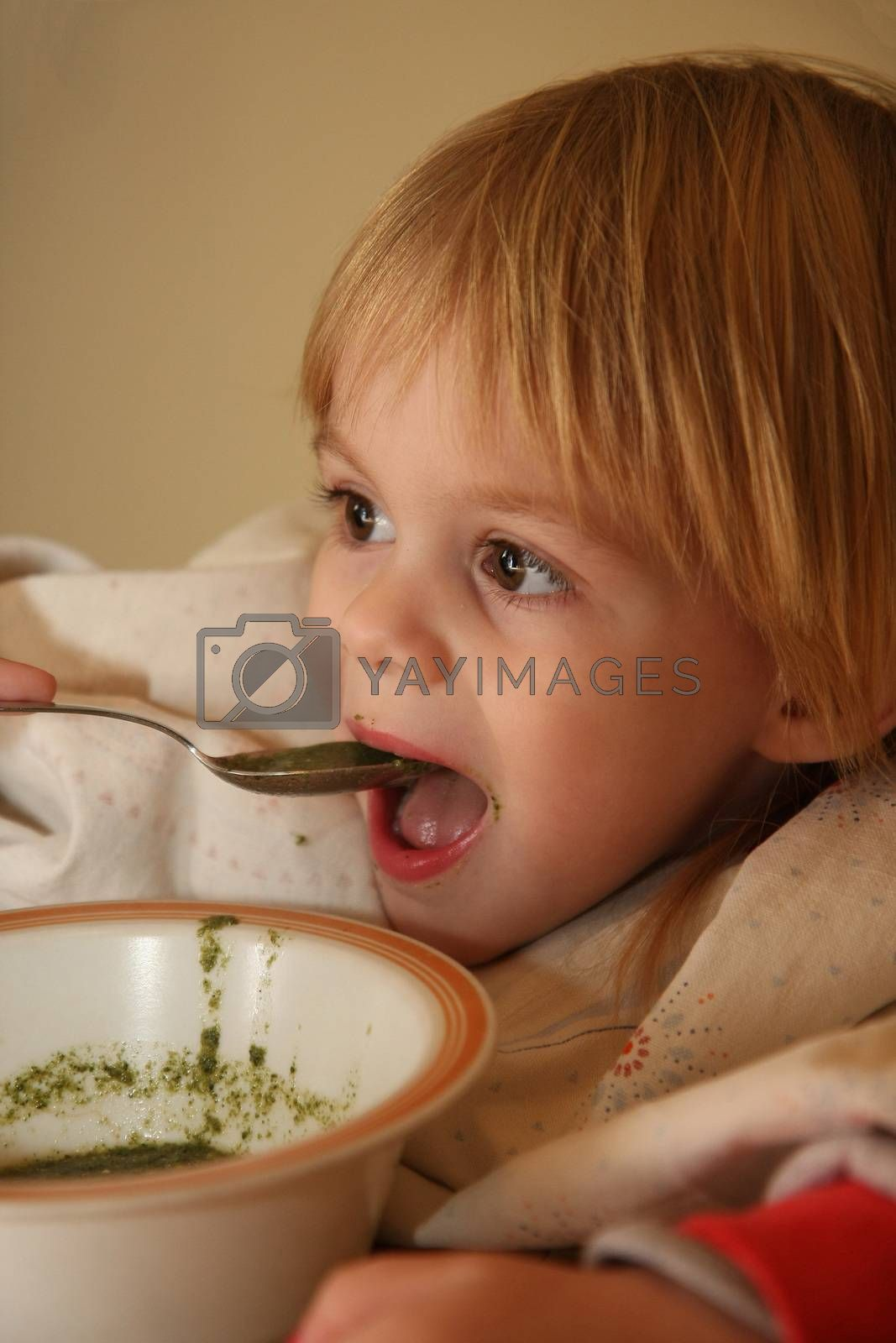 Young girl eating by tdjoric
