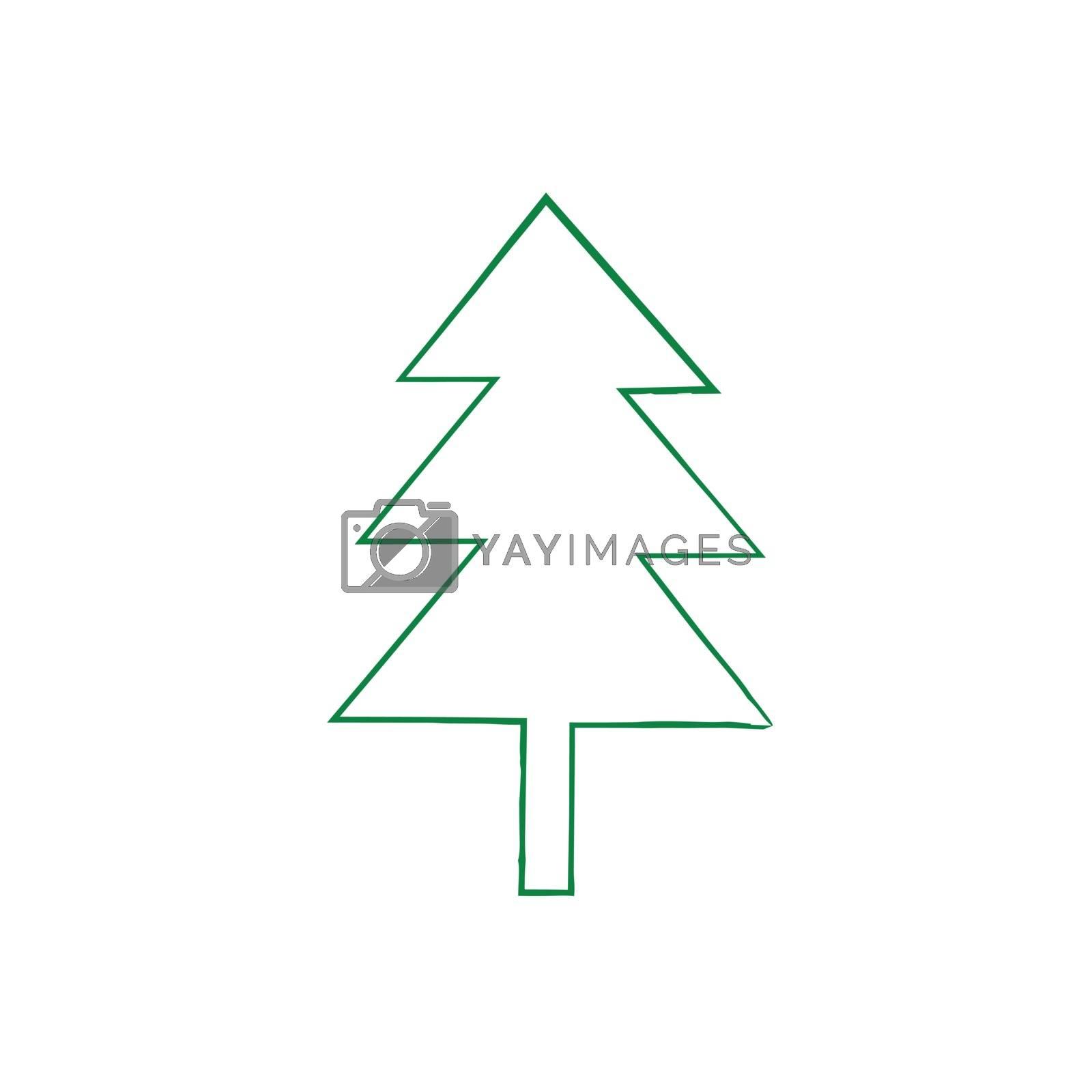 Royalty free image of Christmas tree grunge silhouette by olegkozyrev