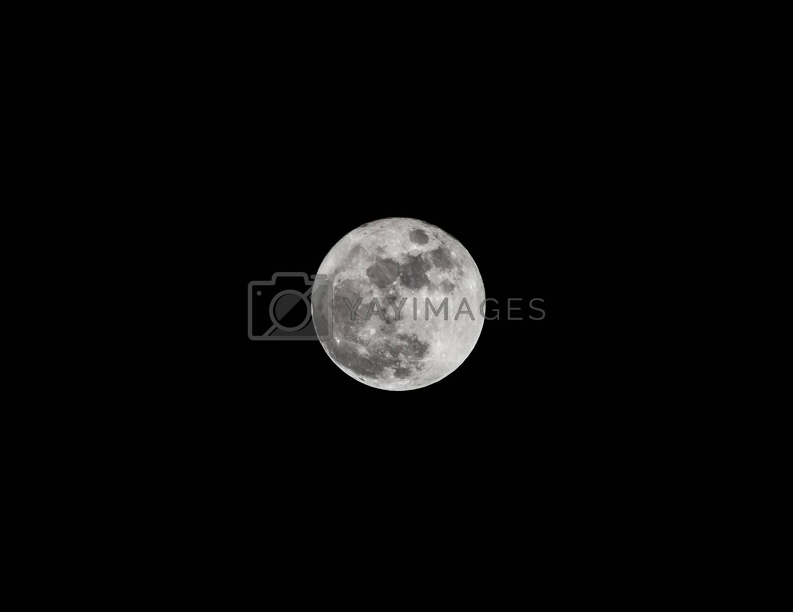 full Moon taken on black background