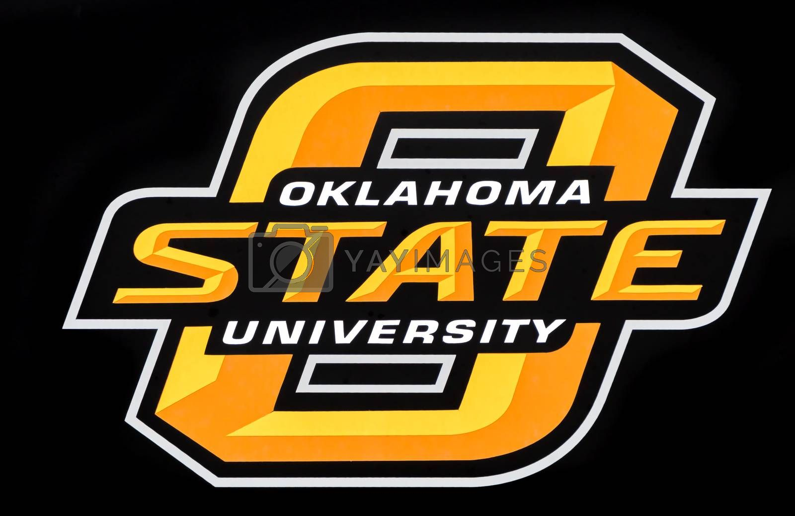 STILLWATER, OK/USA - MAY 20, 2016: Oklahoma State University logo and seal on the campus of Oklahoma State University.