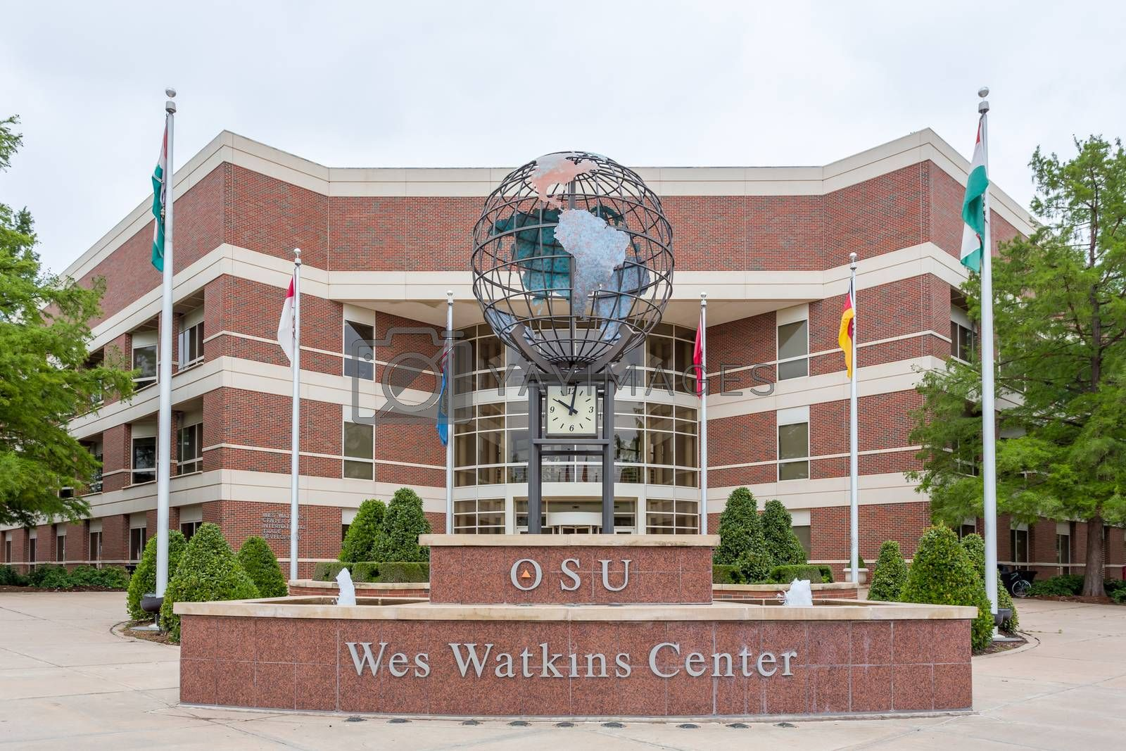 STILLWATER, OK/USA - MAY 20, 2016: Wes Watkins Center on the campus of Oklahoma State University.