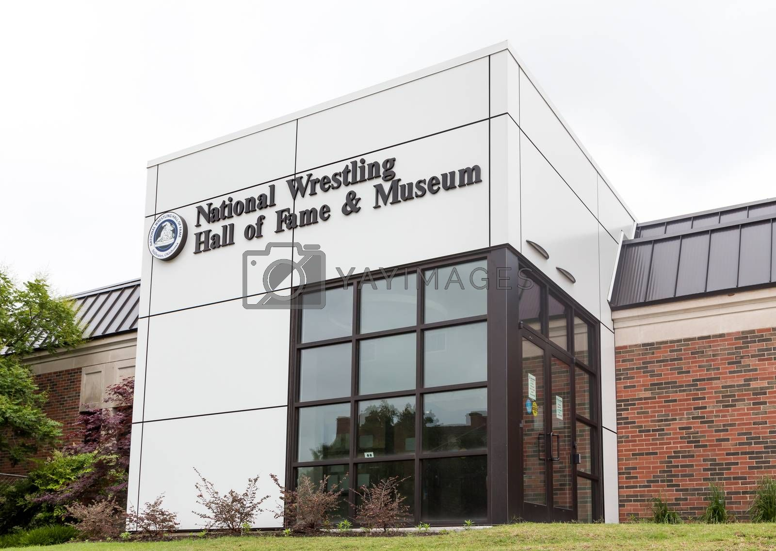 STILLWATER, OK/USA - MAY 20, 2016: The National Wrestling Hall of Fame and Museum on the campus of Oklahoma State University.