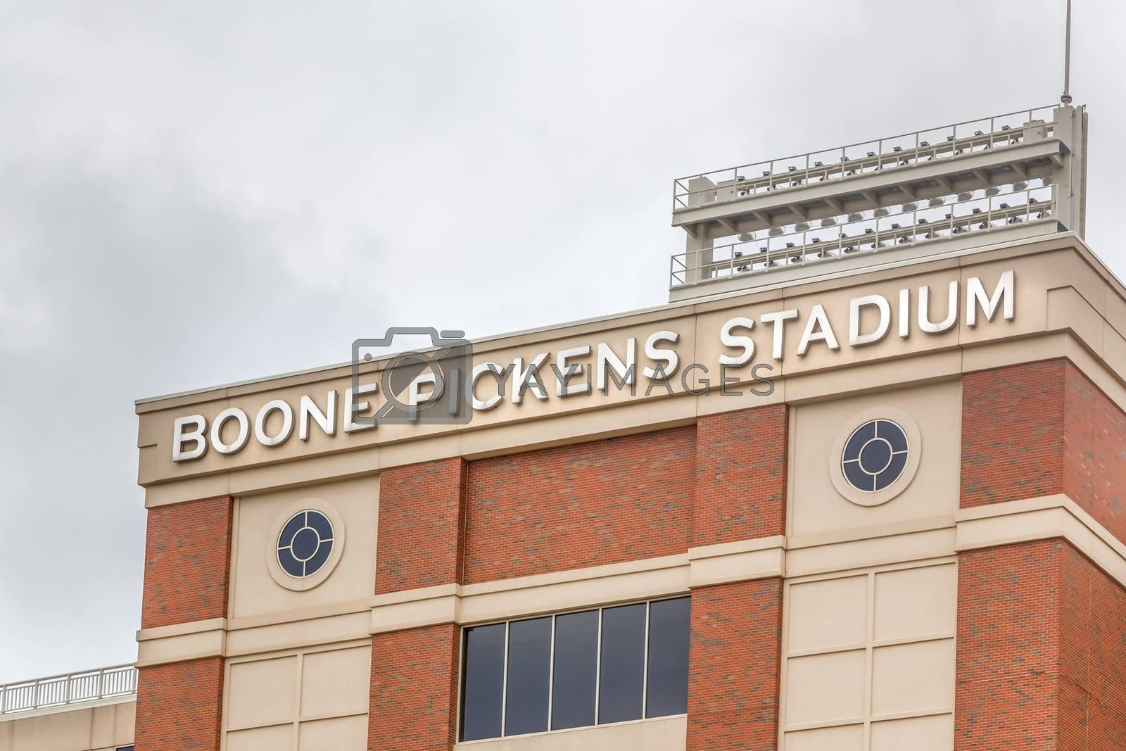 STILLWATER, OK/USA - MAY 20, 2016: Boone Pickens Stadium on the campus of Oklahoma State University.