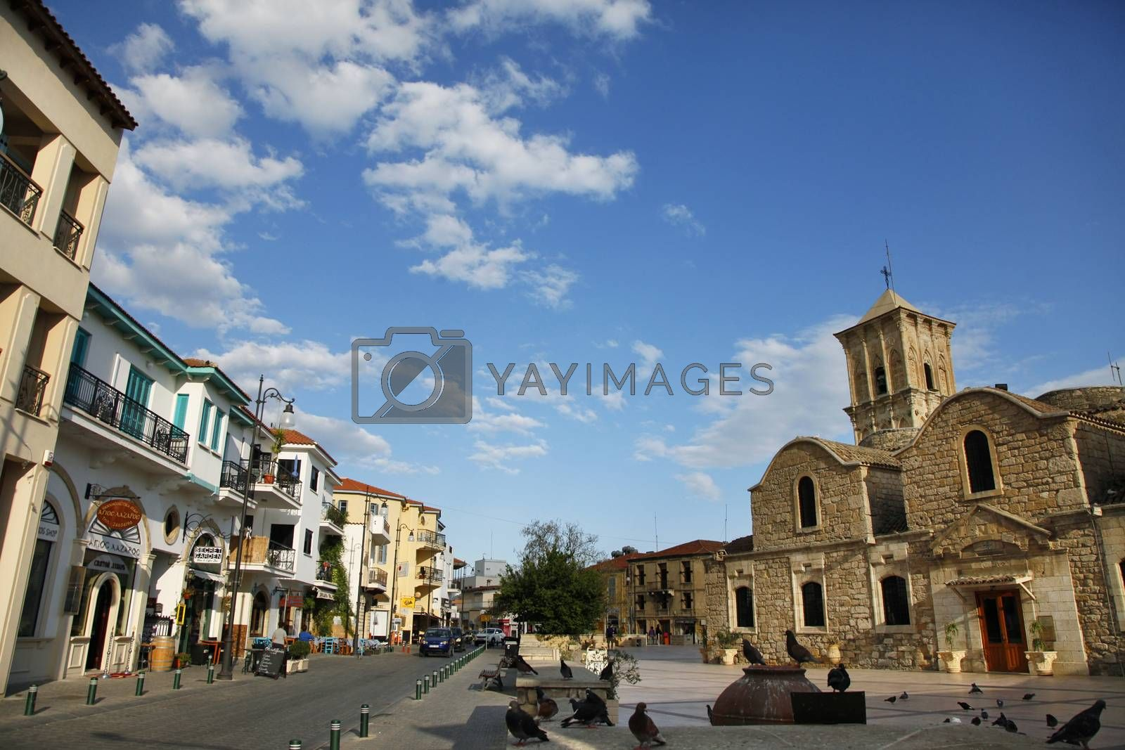 Larnaca, Cyprus - May 23, 2016: St. Lazarus church - the tomb of St. Lazarus in Larnaka, Cyprus.