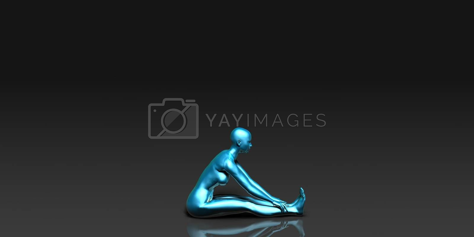 Yoga Class, the Seated Forward Bend Basic Pose Stance