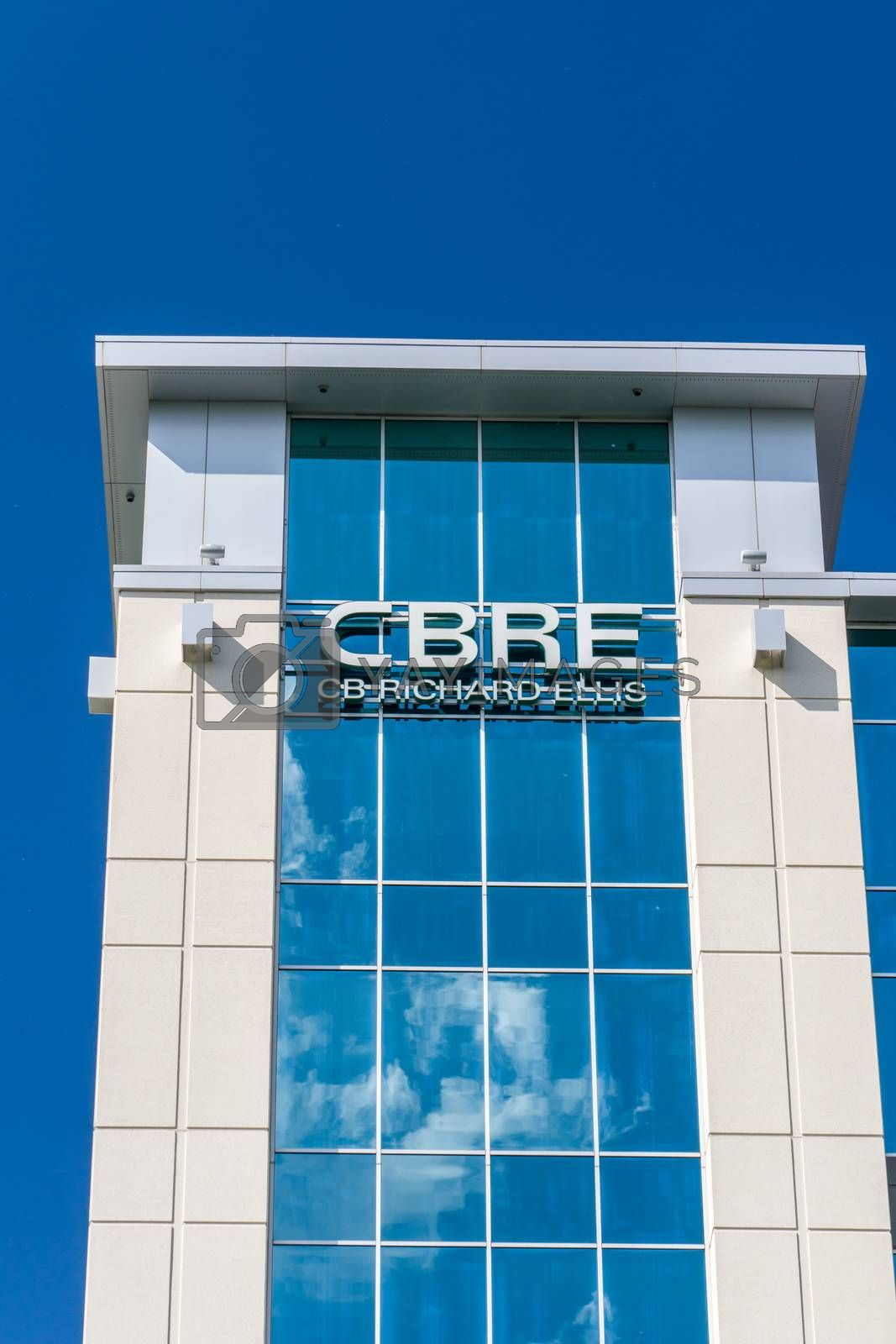BLOOMINGTON, MN/USA - MAY 29, 2016: CBRE real estate offices. CBRE Group, Inc. is a Fortune 500 American commercial real estate company.