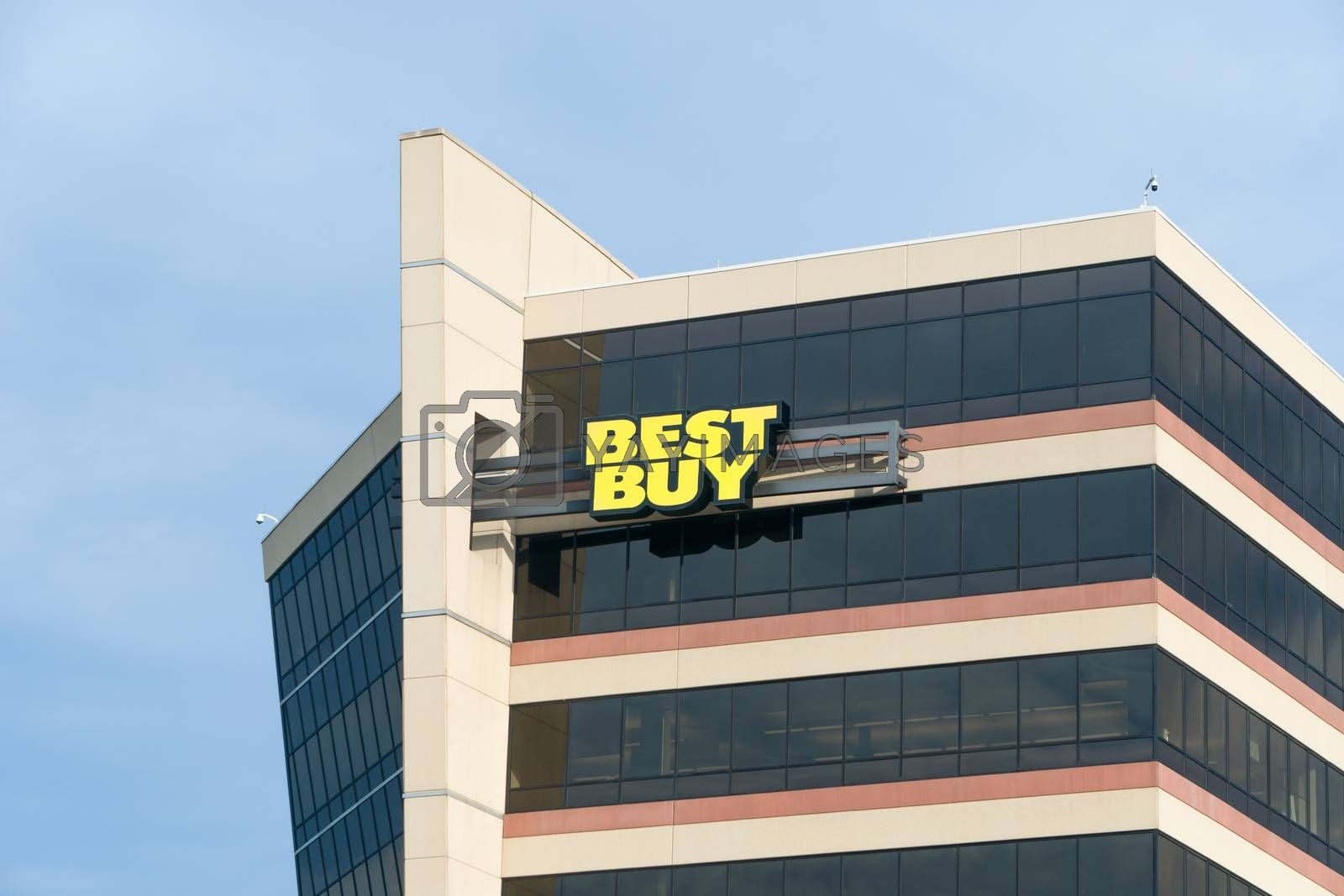 RICHFIELD, MN/USA - MAY 30, 2016:  Best Buy corporate headquarters building. Best Buy is an American multinational consumer electronics corporation.