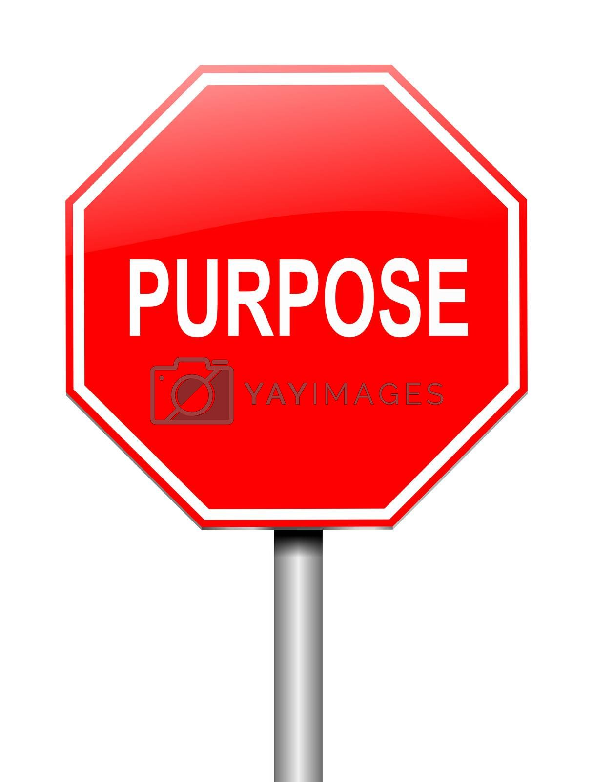 Purpose sign concept. by 72soul