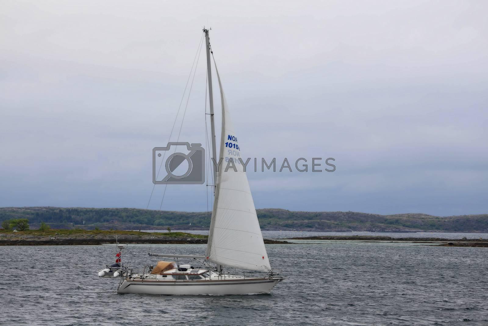 Seilbåten Vindfangern under seil
