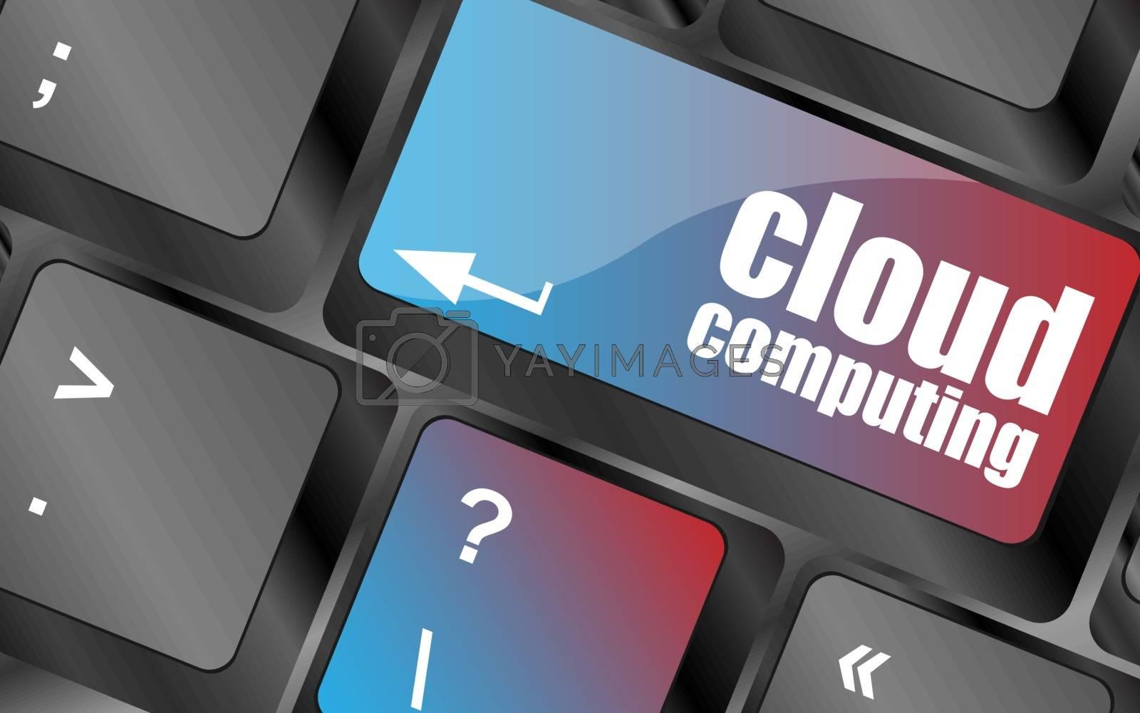 computer keyboard for cloud computing, business concept vector . keyboard keys, keyboard button, keyboard icon