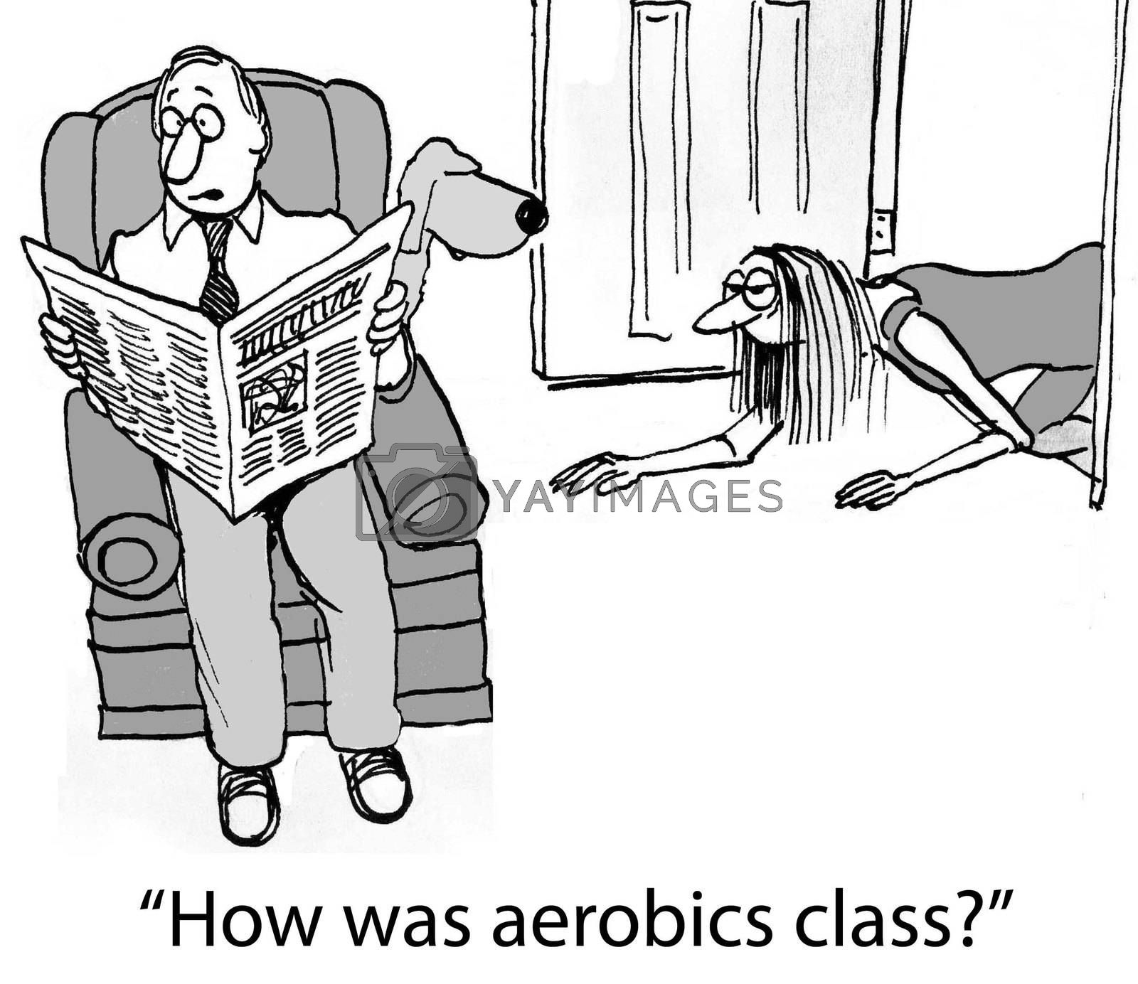 """How was aerobics class?"""