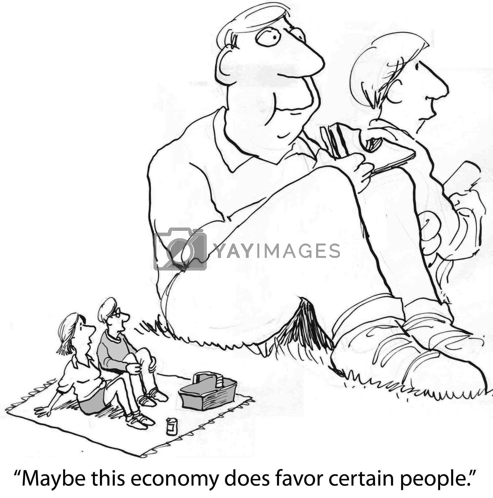 """""""Maybe this economy does favor certain people."""""""
