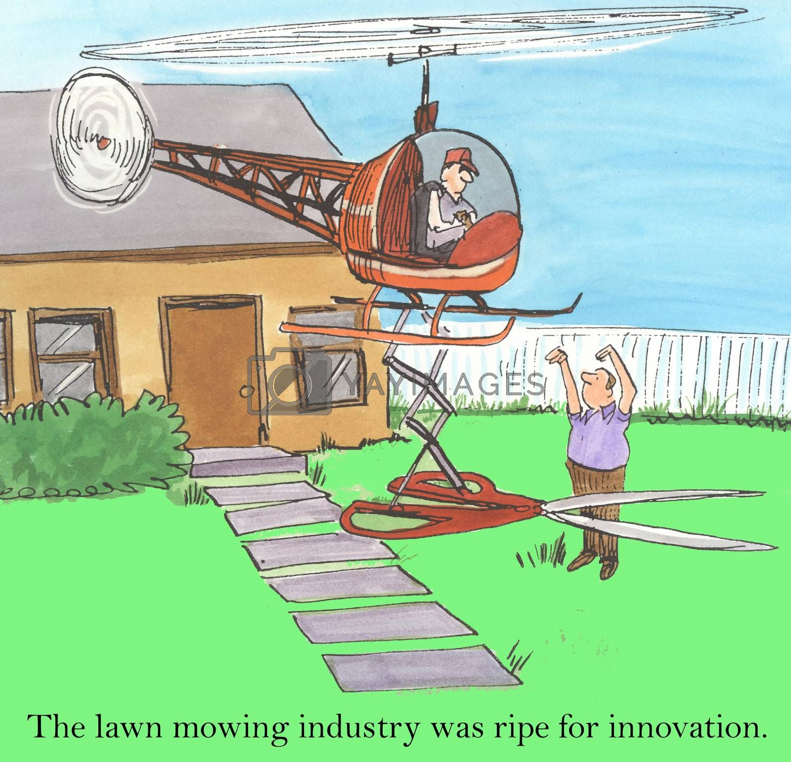 The lawn mowing industry was ripe for innovation.