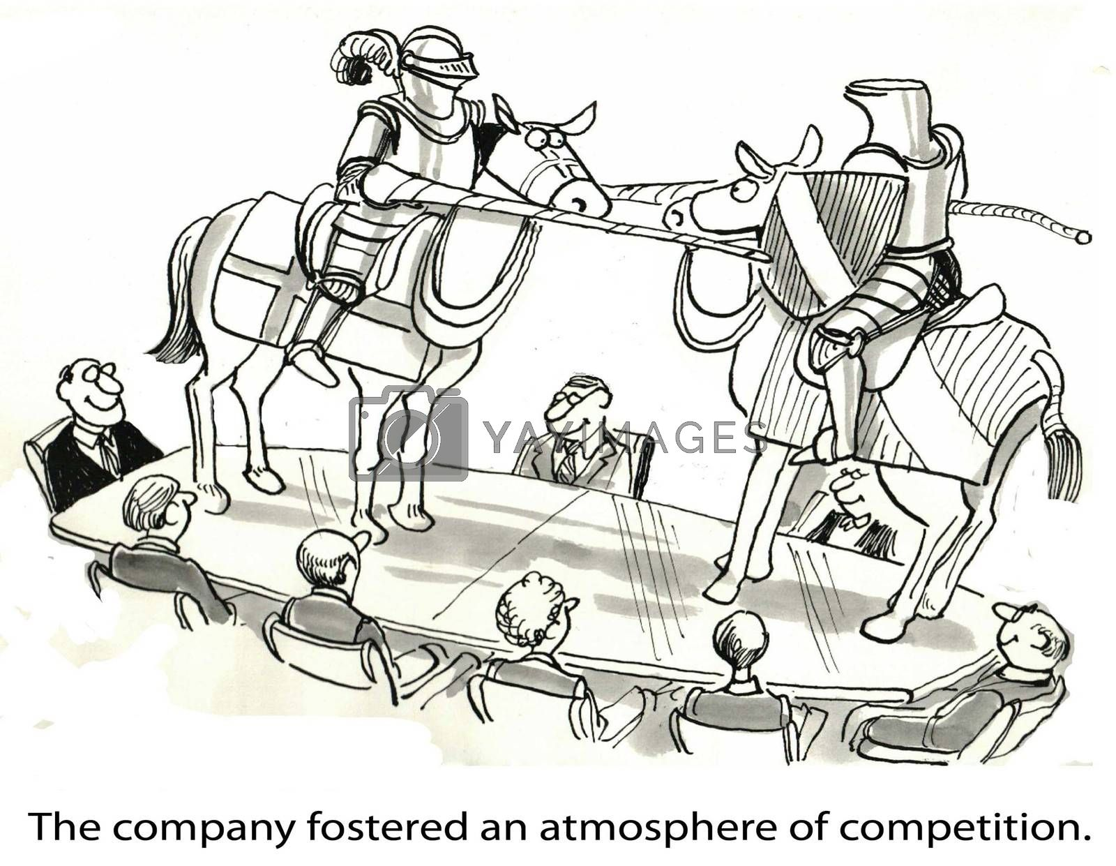 The company fostered an atmosphere of competition.