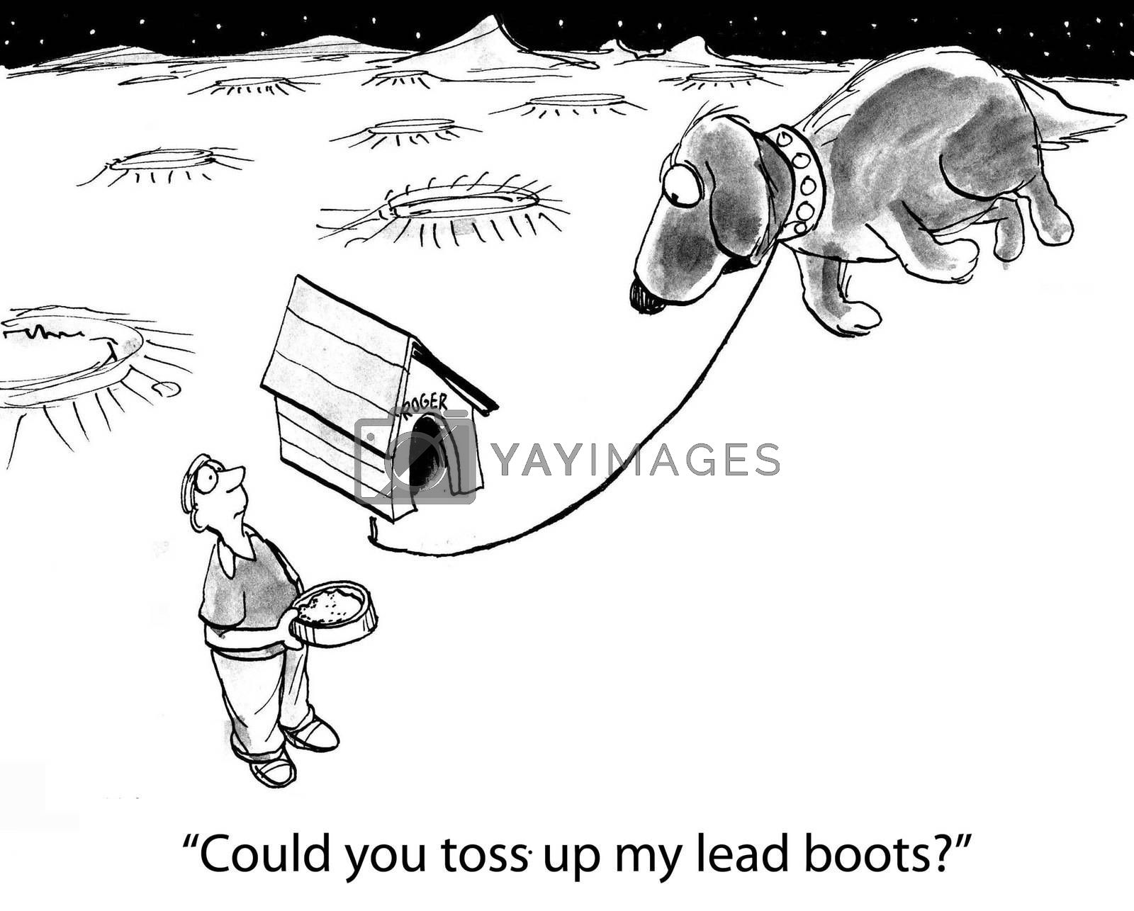 """""""Any chance you could toss up my lead boots?"""""""