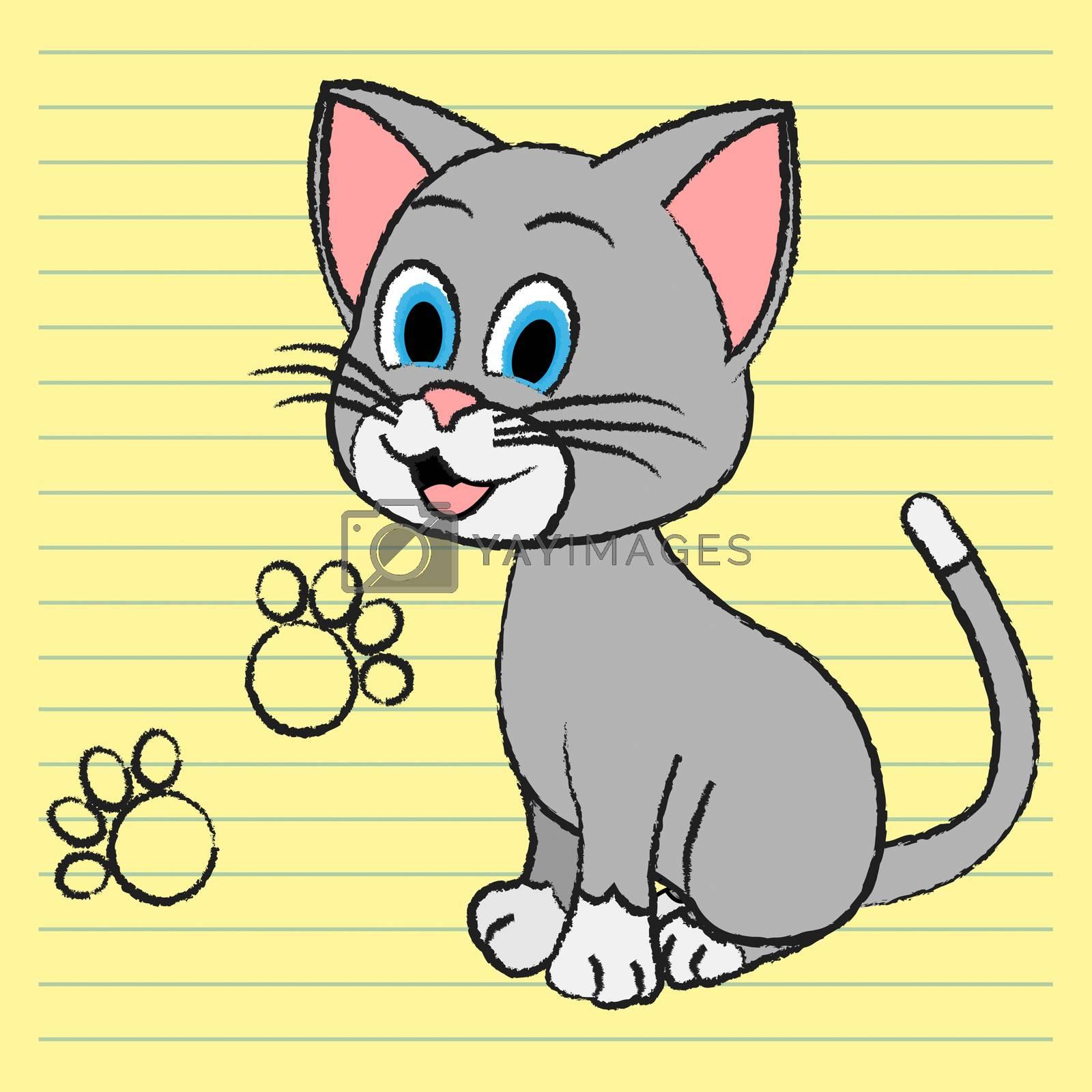 Cute Cat Indicating Feline Pedigree And Kitten