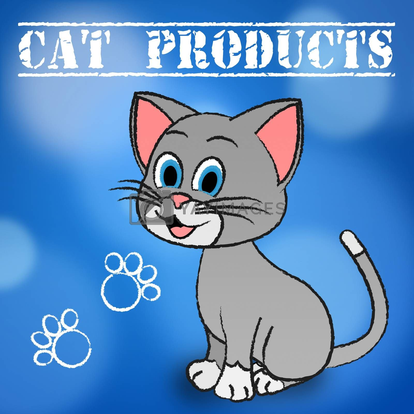 Cat Products Showing Feline Pedigree And Shopping
