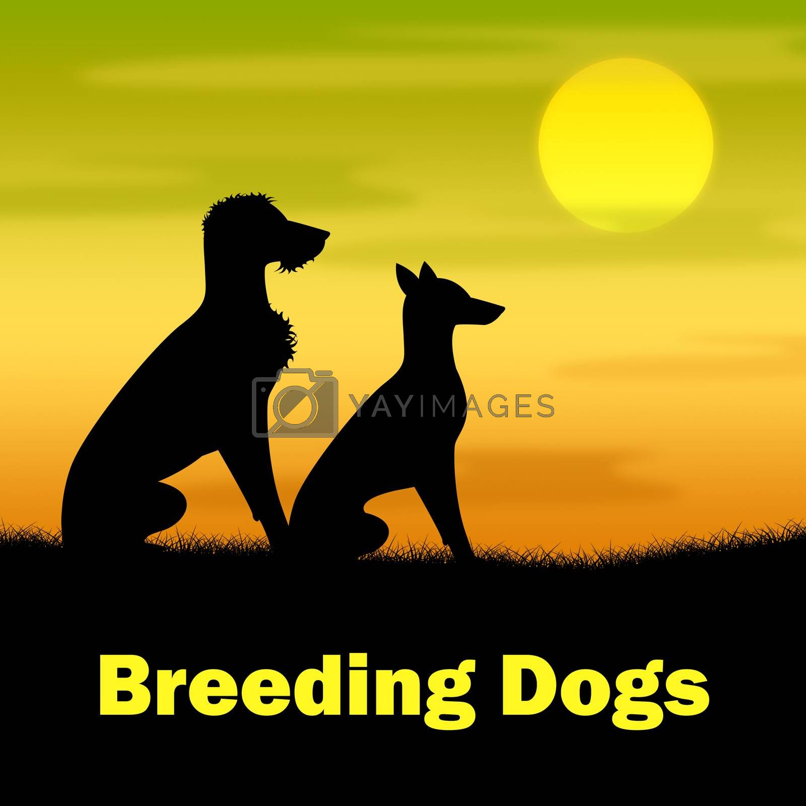 Breeding Dogs Indicating Bred Breeds And Reproducing