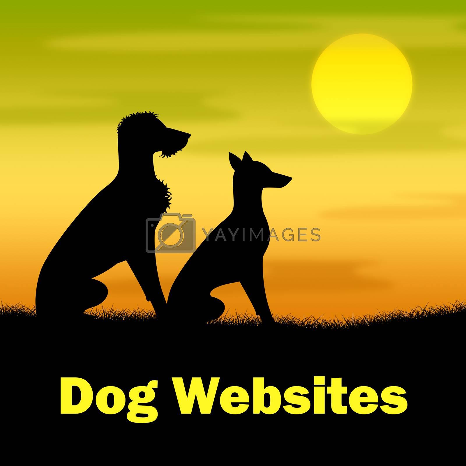 Dog Websites Indicating Pet Pasture And Nighttime