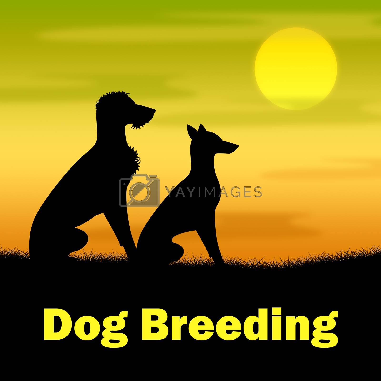 Dog Breeding Representing Offspring Canine And Night
