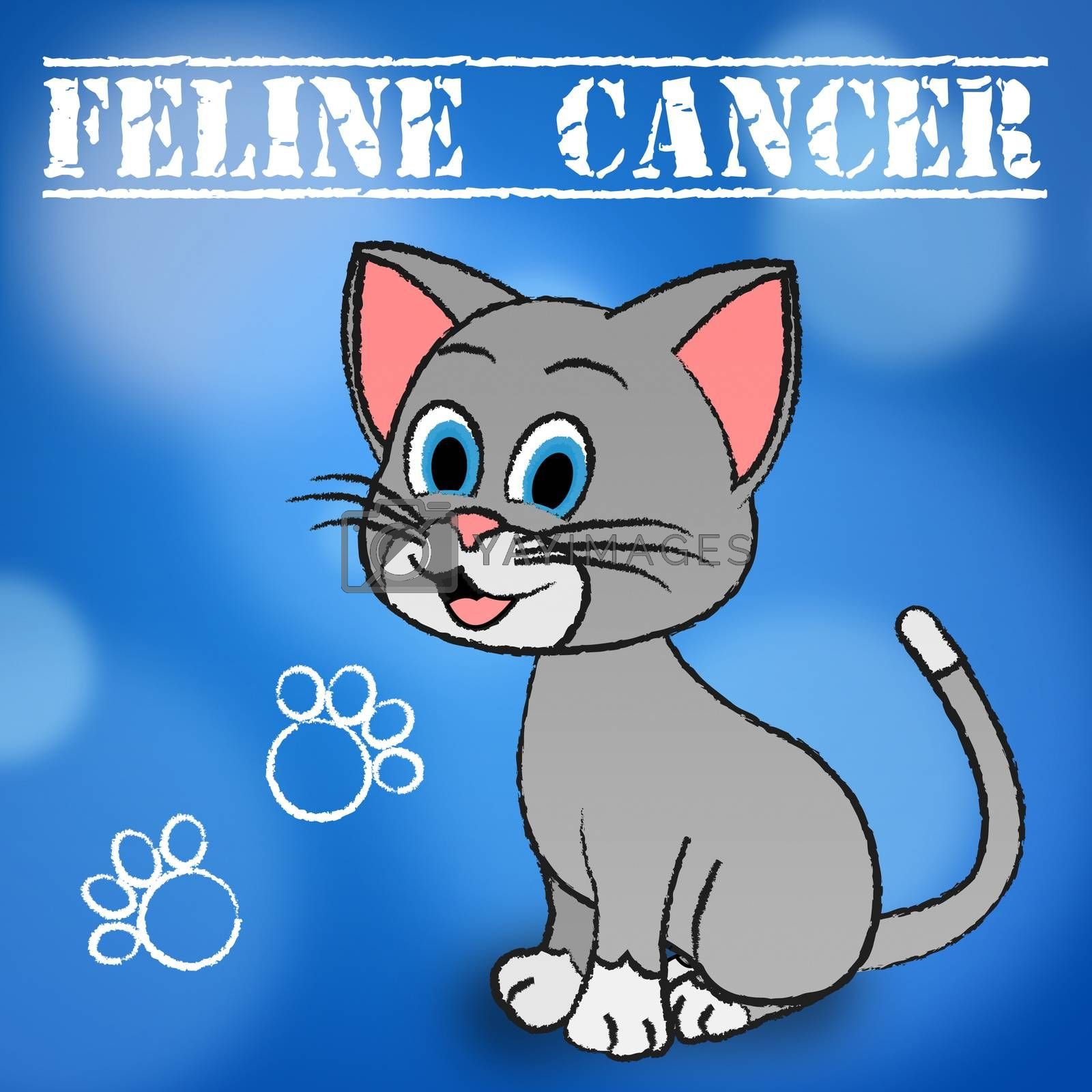 Feline Cancer Showing Malignant Growth And Malignancy