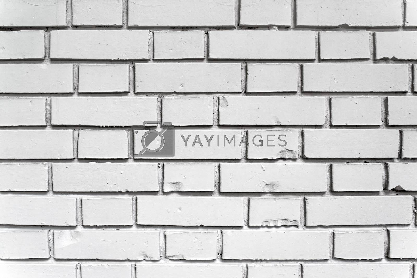 Royalty free image of White brick wall texture by stevanovicigor