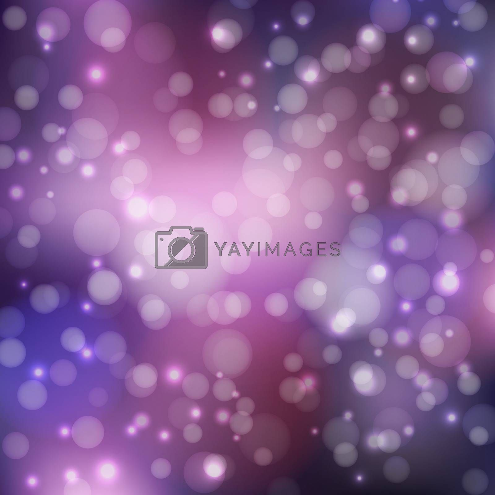 Abstract background in purple tones. To design your projects. Bokeh wallpaper. Vector illustration.