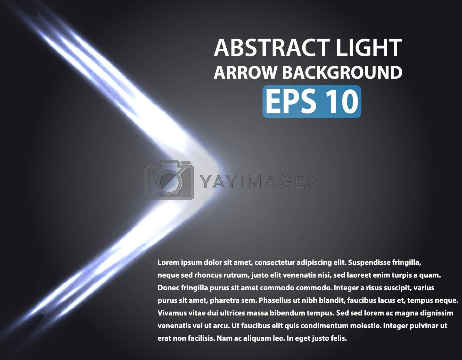 Abstract background with light arrow. Blue elements. Vector illustration, EPS 10