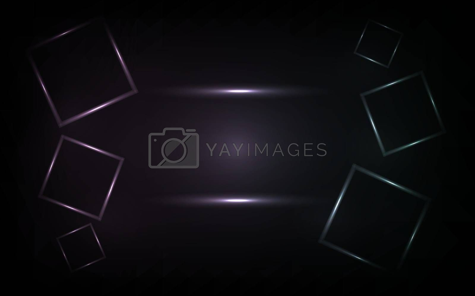 Vector neon squares design. Colorful background. Illustration EPS 10