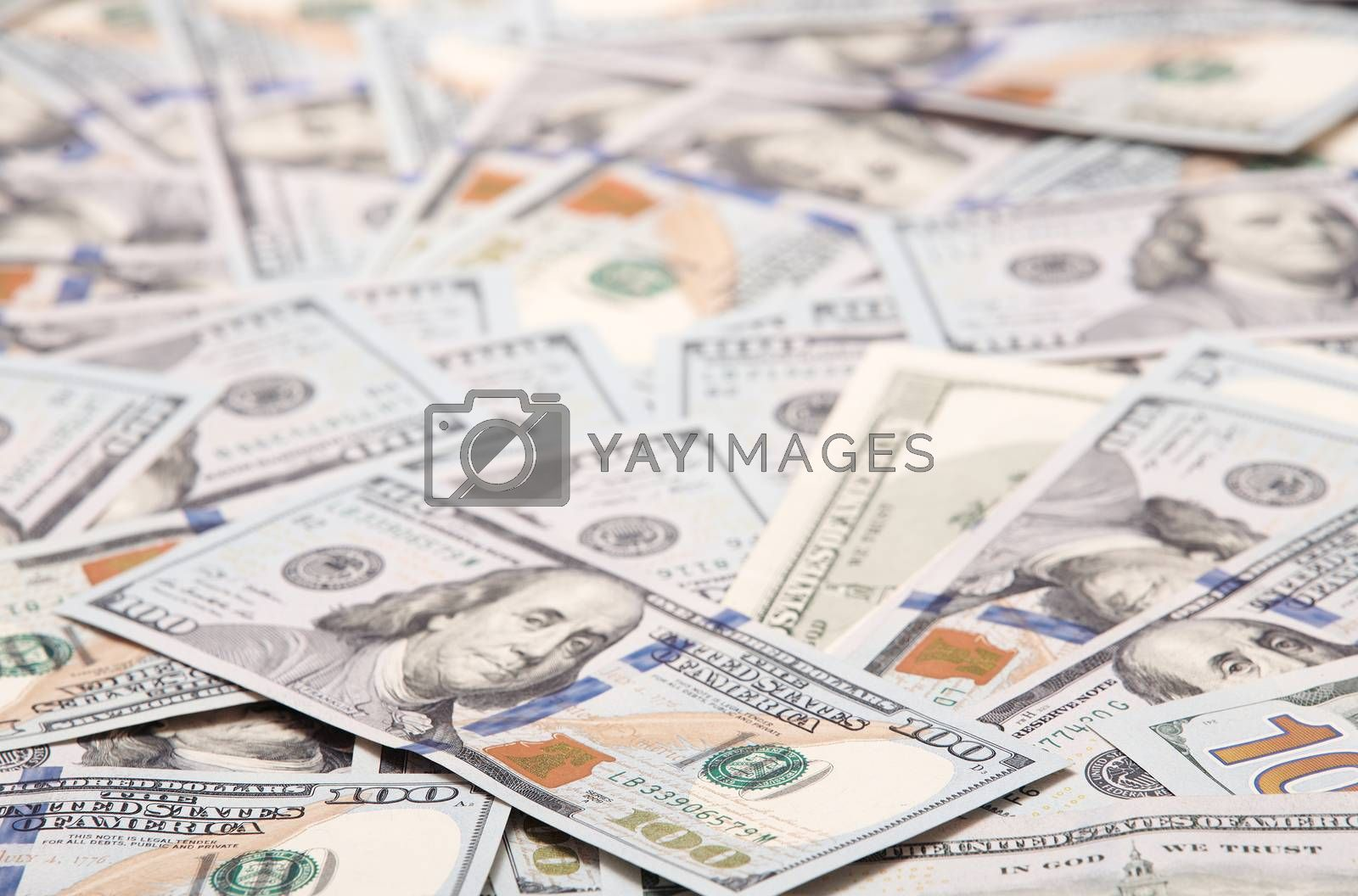Texture of one hundred US dollars banknotes