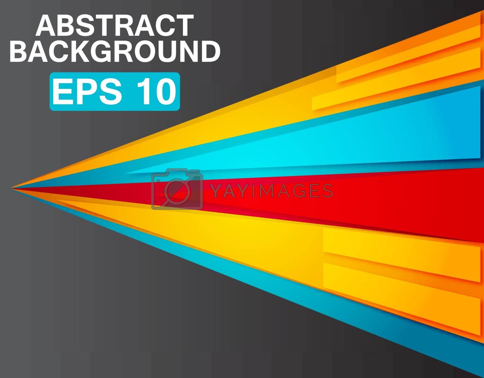 Dynamic colorful stripes. Vector Illustration, EPS 10