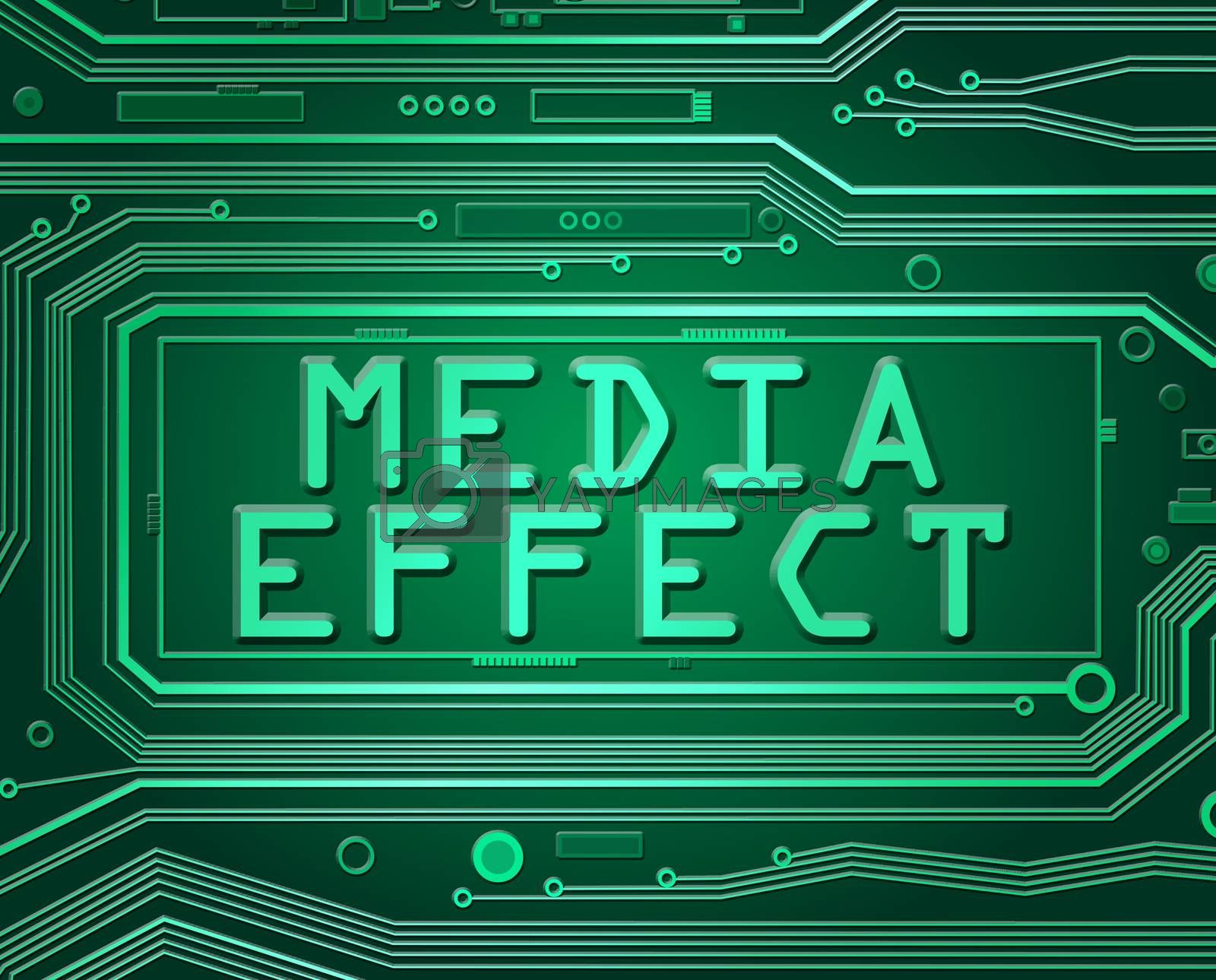 Abstract style illustration depicting printed circuit board components with a media effect concept.