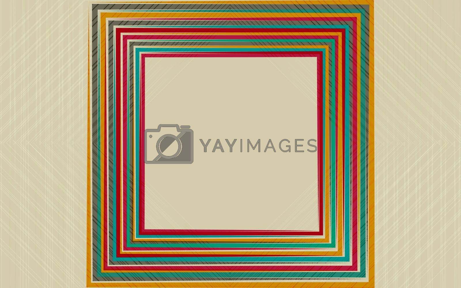 Abstract distortion from rhomb shape background. Vector illustration EPS 10
