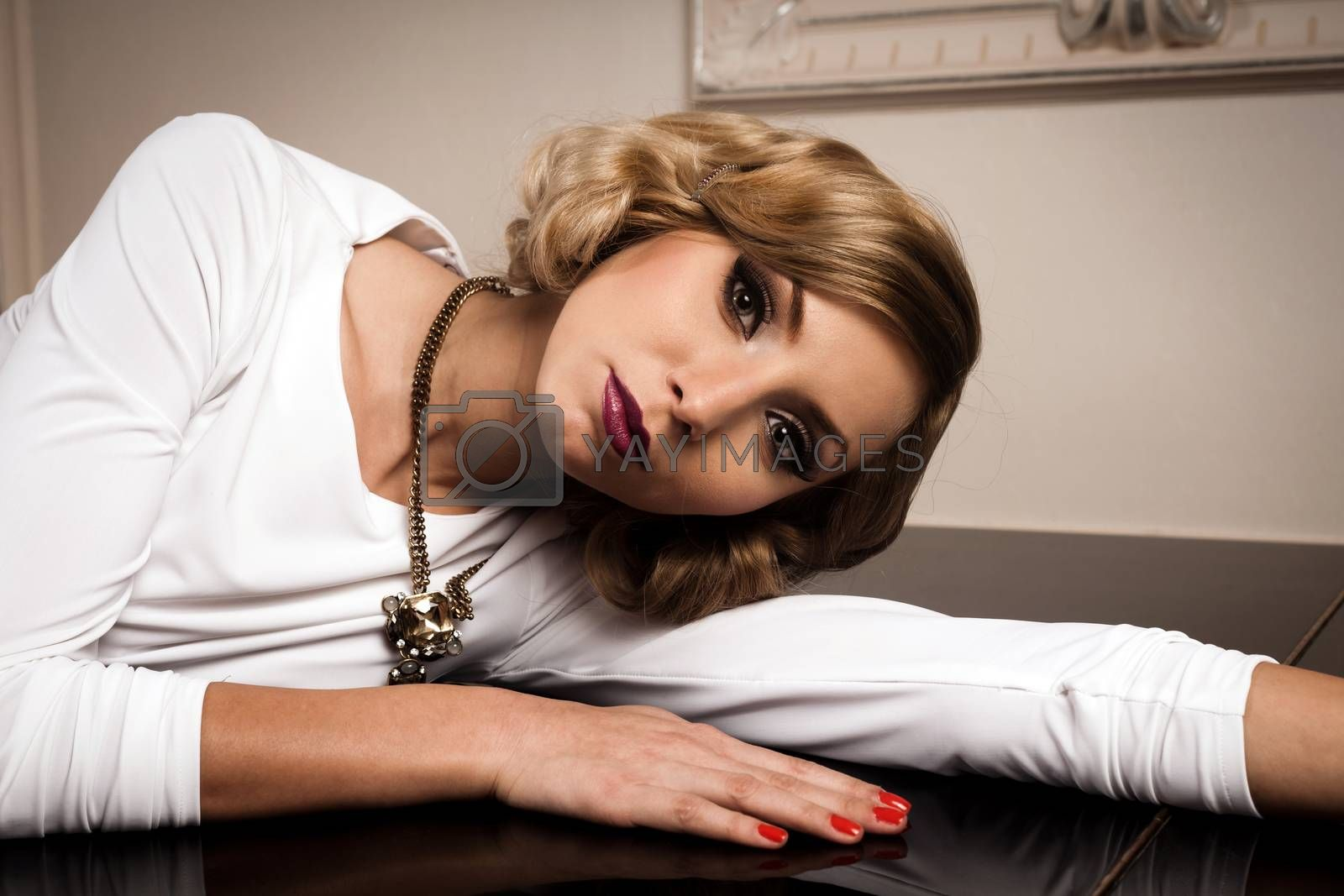Lovely blond woman portrait. Please see more images from the same shoot.