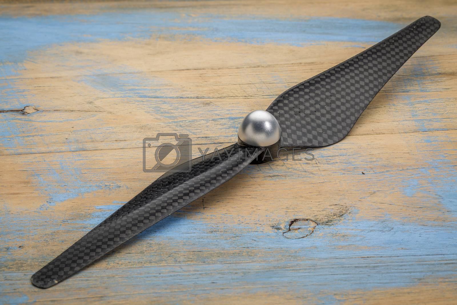 carbon fiber drone propeller by PixelsAway
