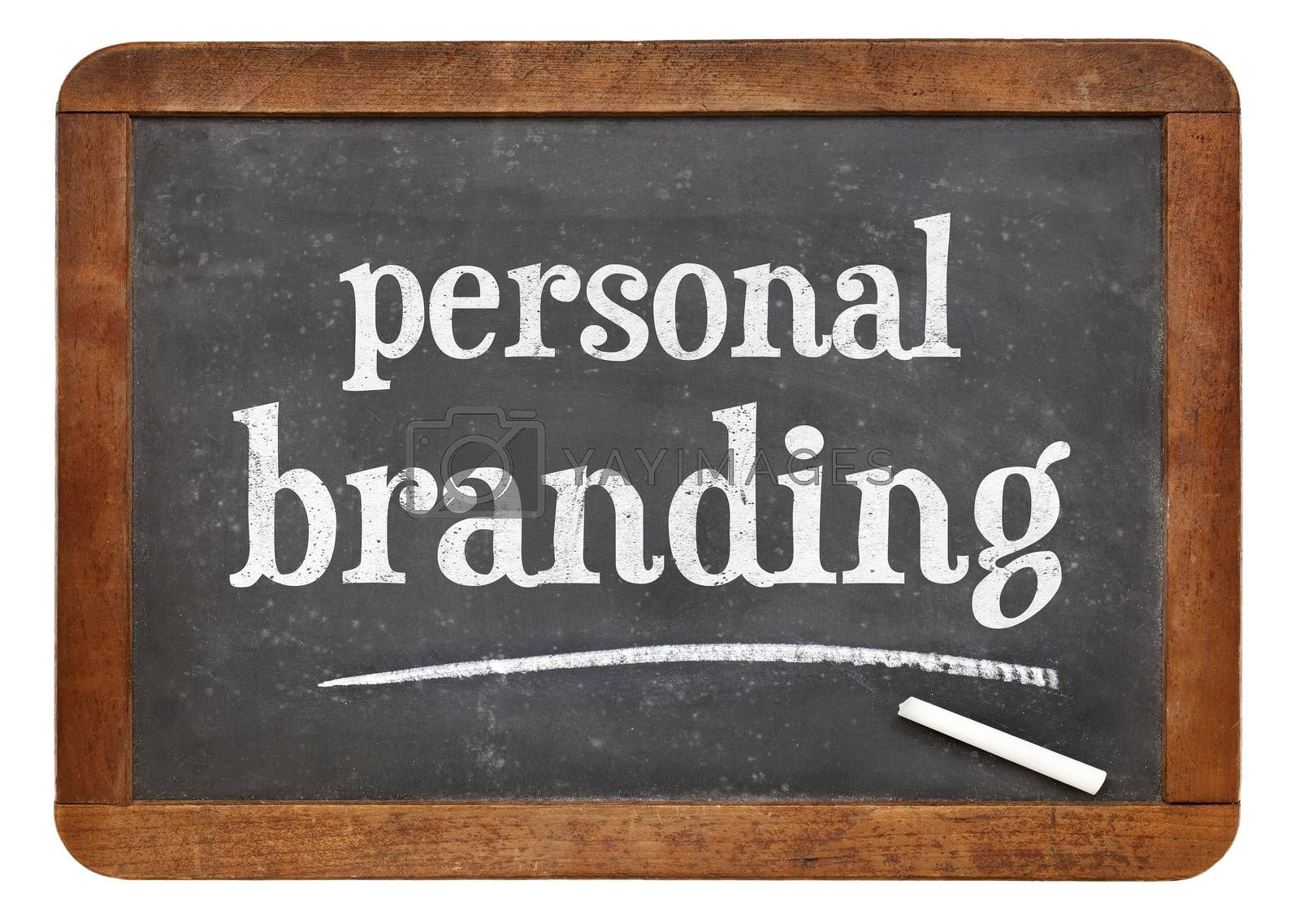 personal branding blackboard sign by PixelsAway