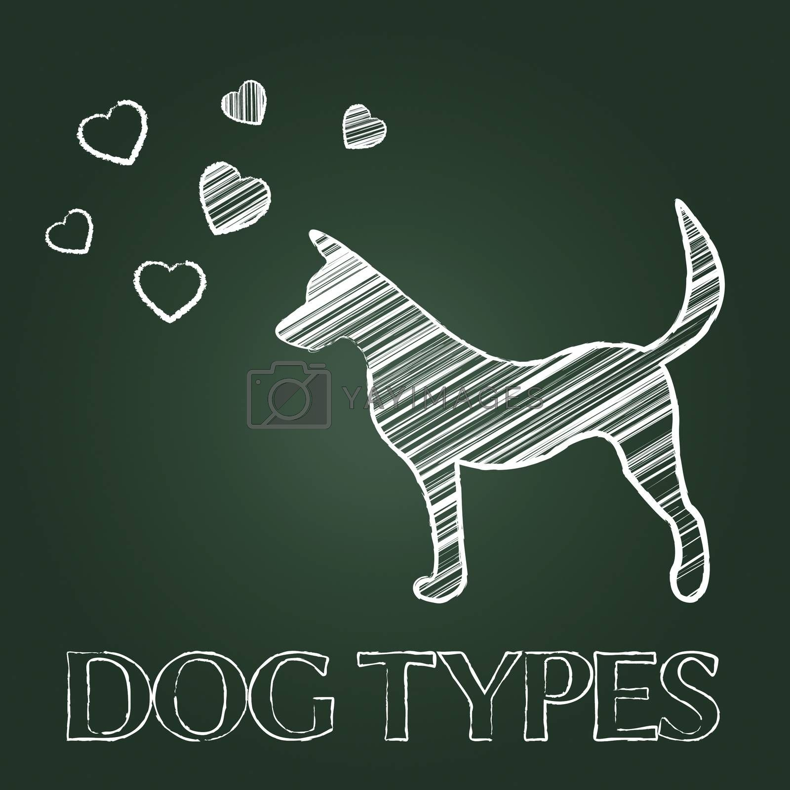 Dog Types Indicating Categories Pets And Canines