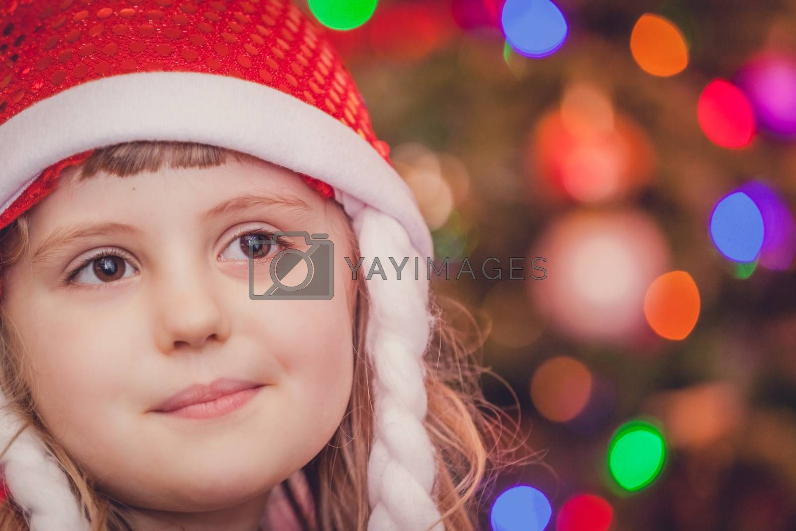 Royalty free image of Cute Christmas girl portrait by pawopa3336