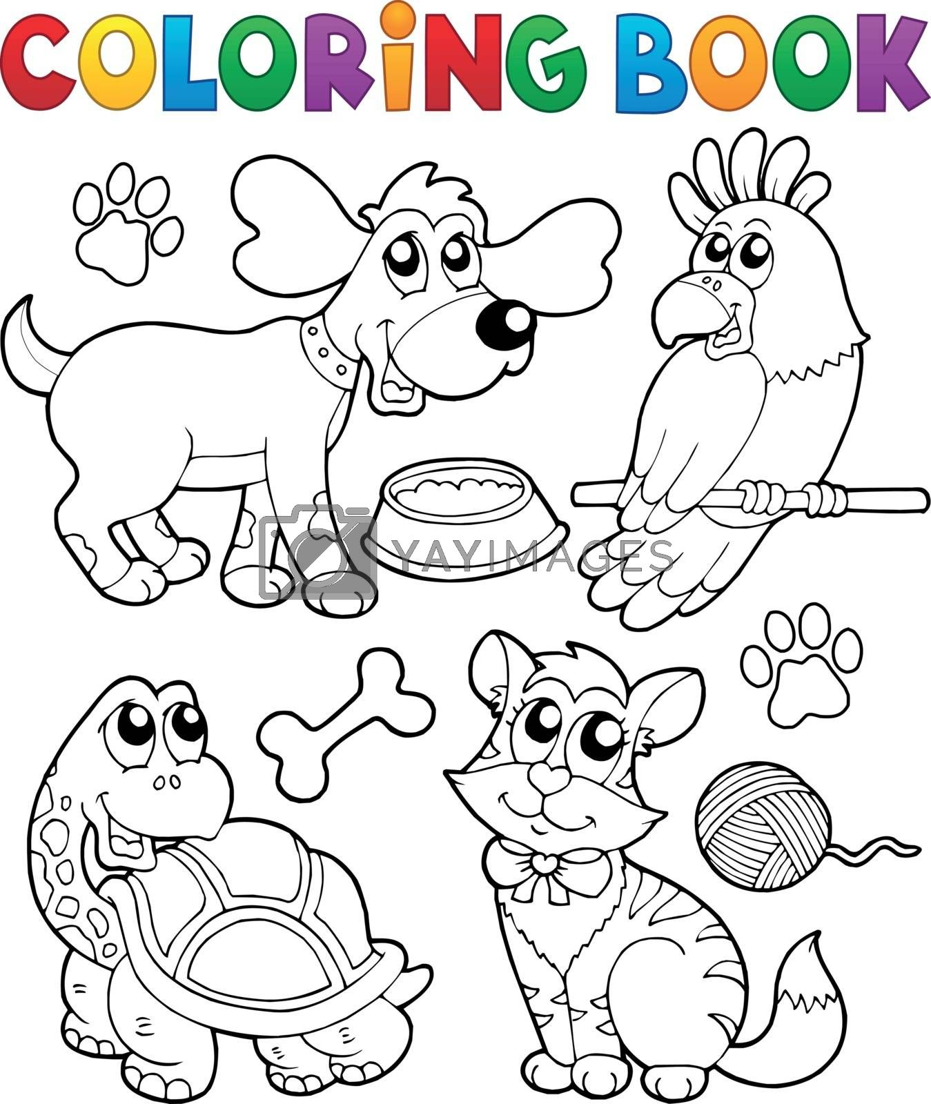 Coloring book with pets 3 by clairev