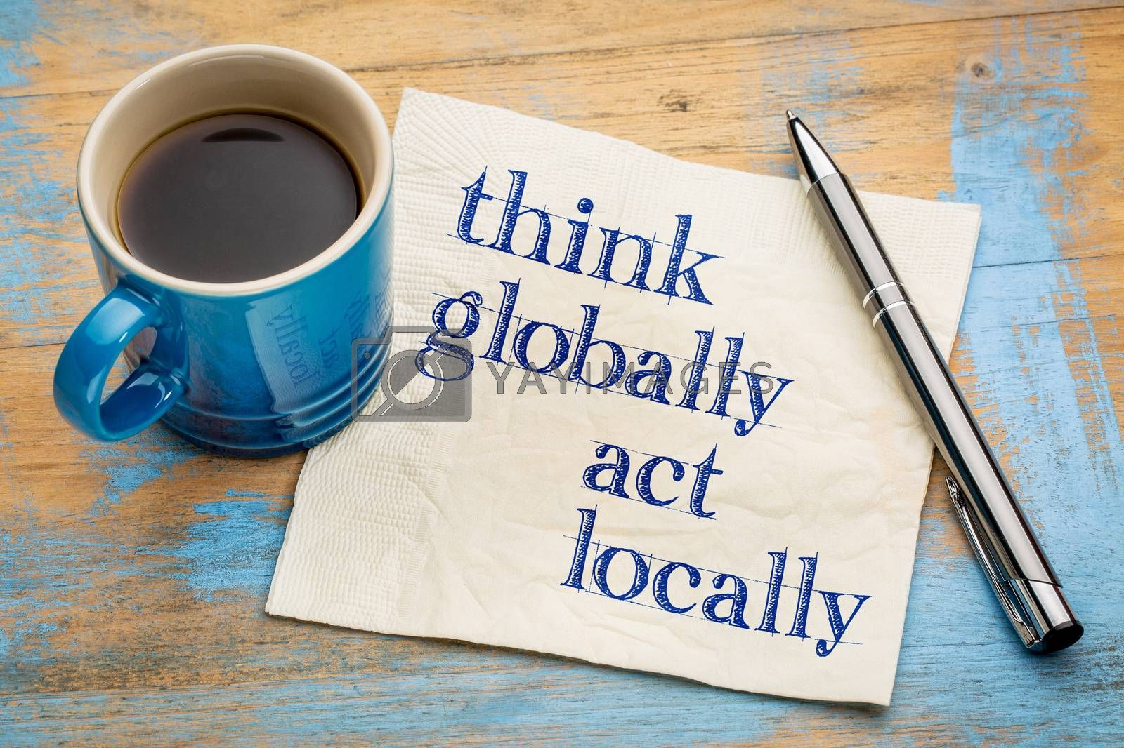 Think globally, act locally by PixelsAway