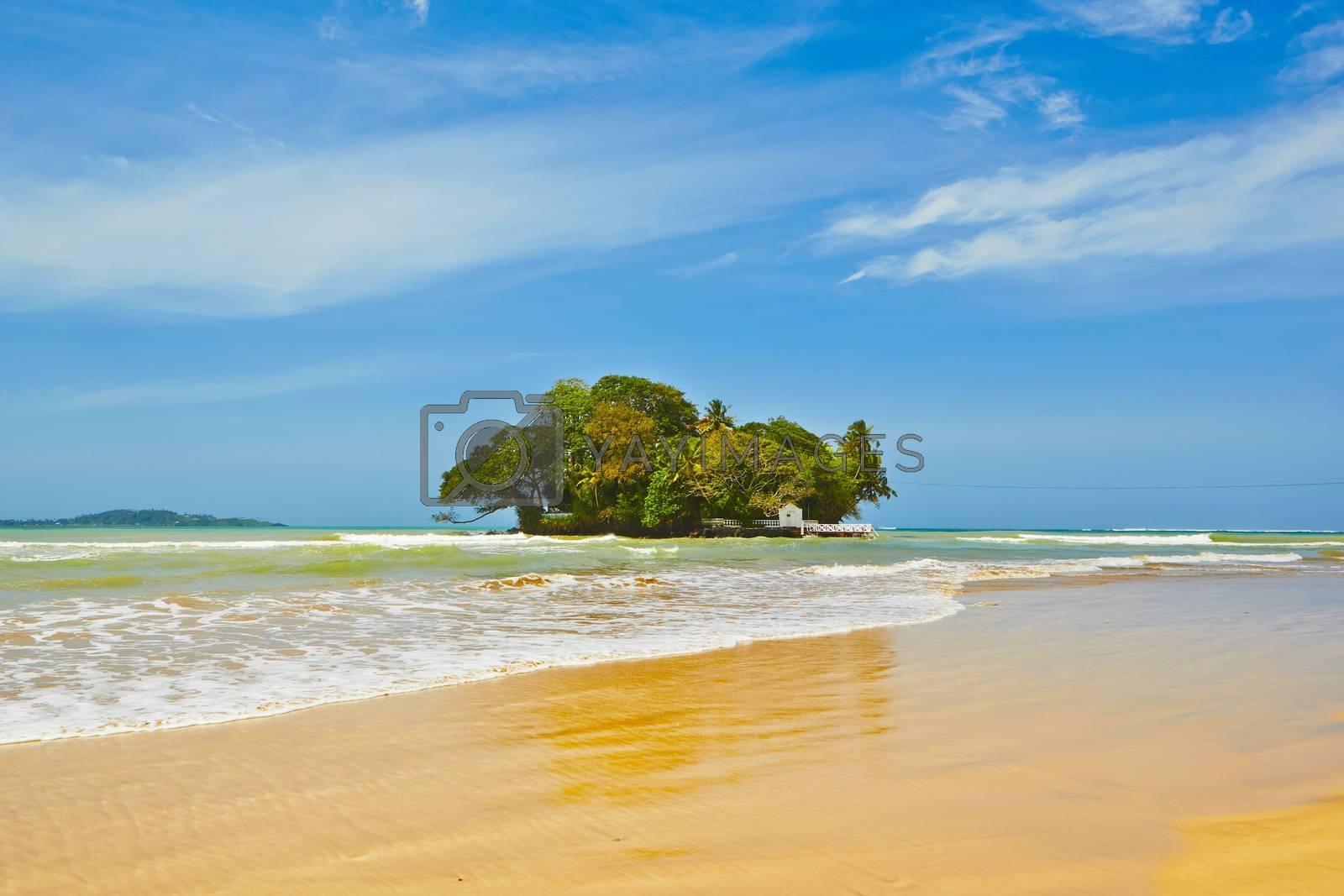 Tropical island in Weligama near Matara in Sri Lanka