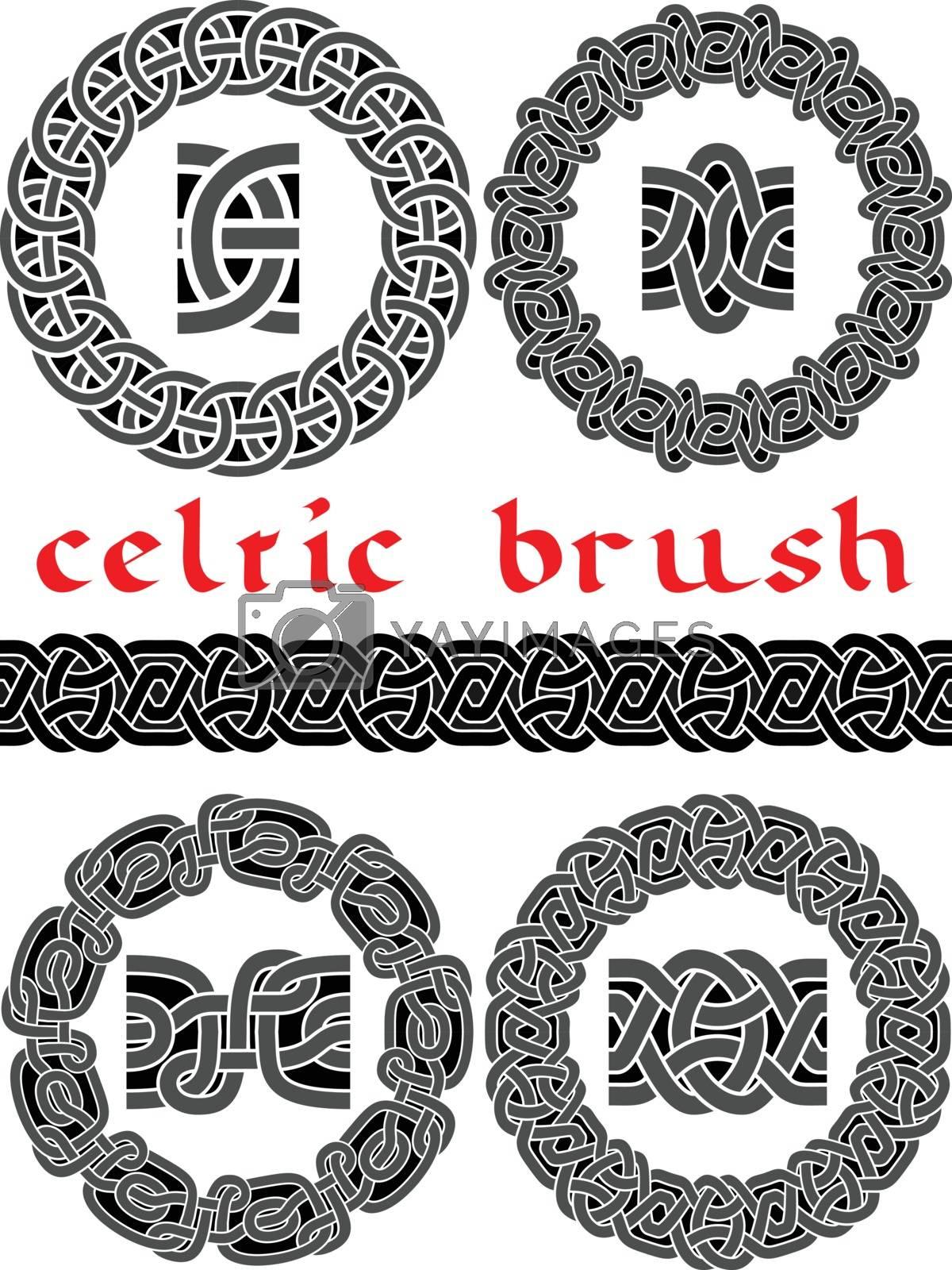 celtic brush for  design seamless vector