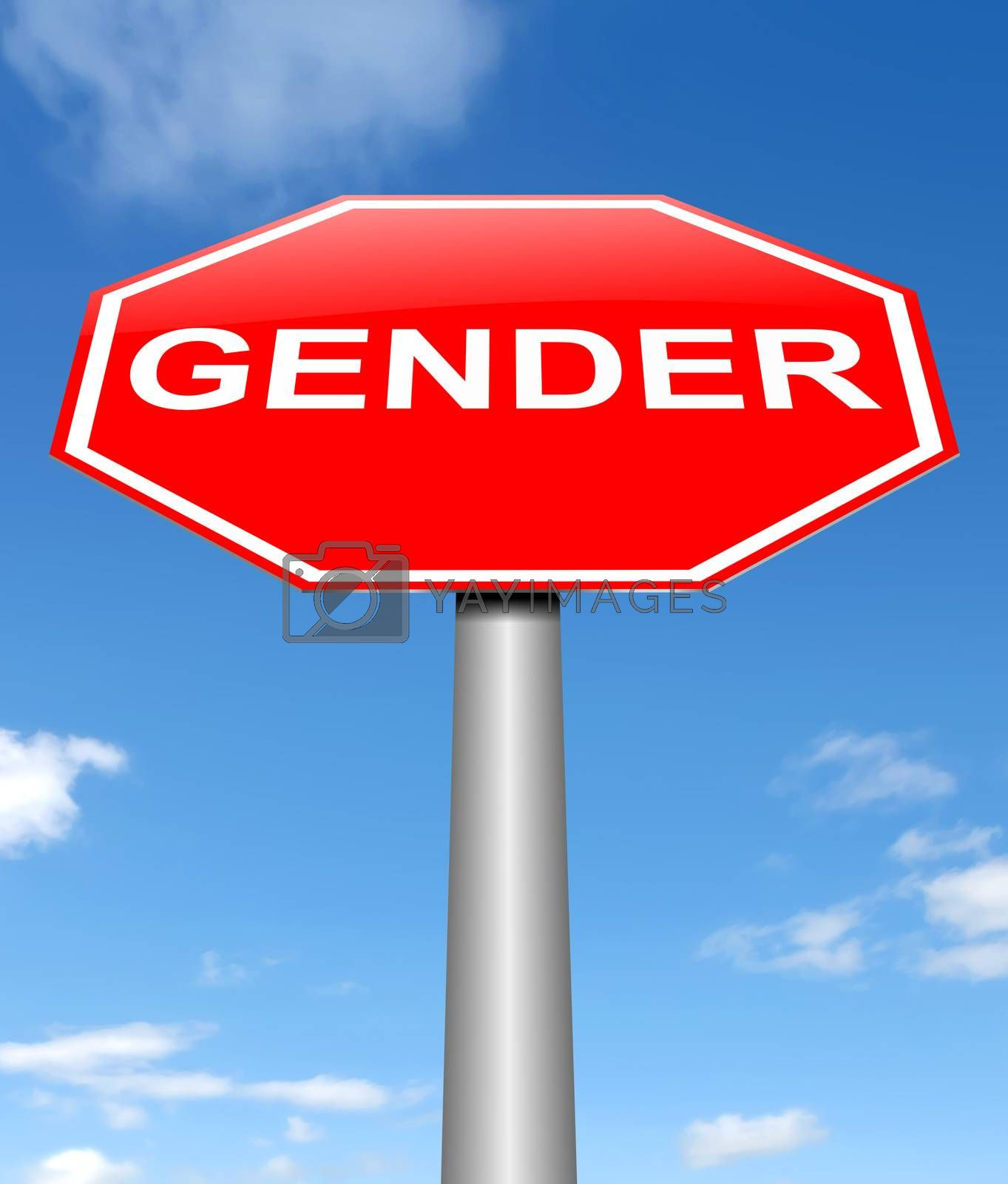 Illustration depicting a sign with a gender concept.