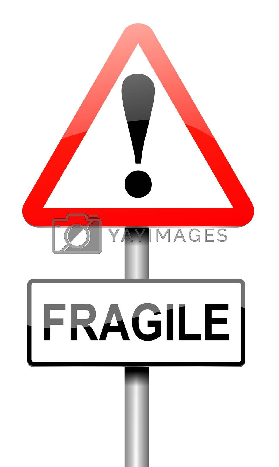 Fragile sign concept. by 72soul